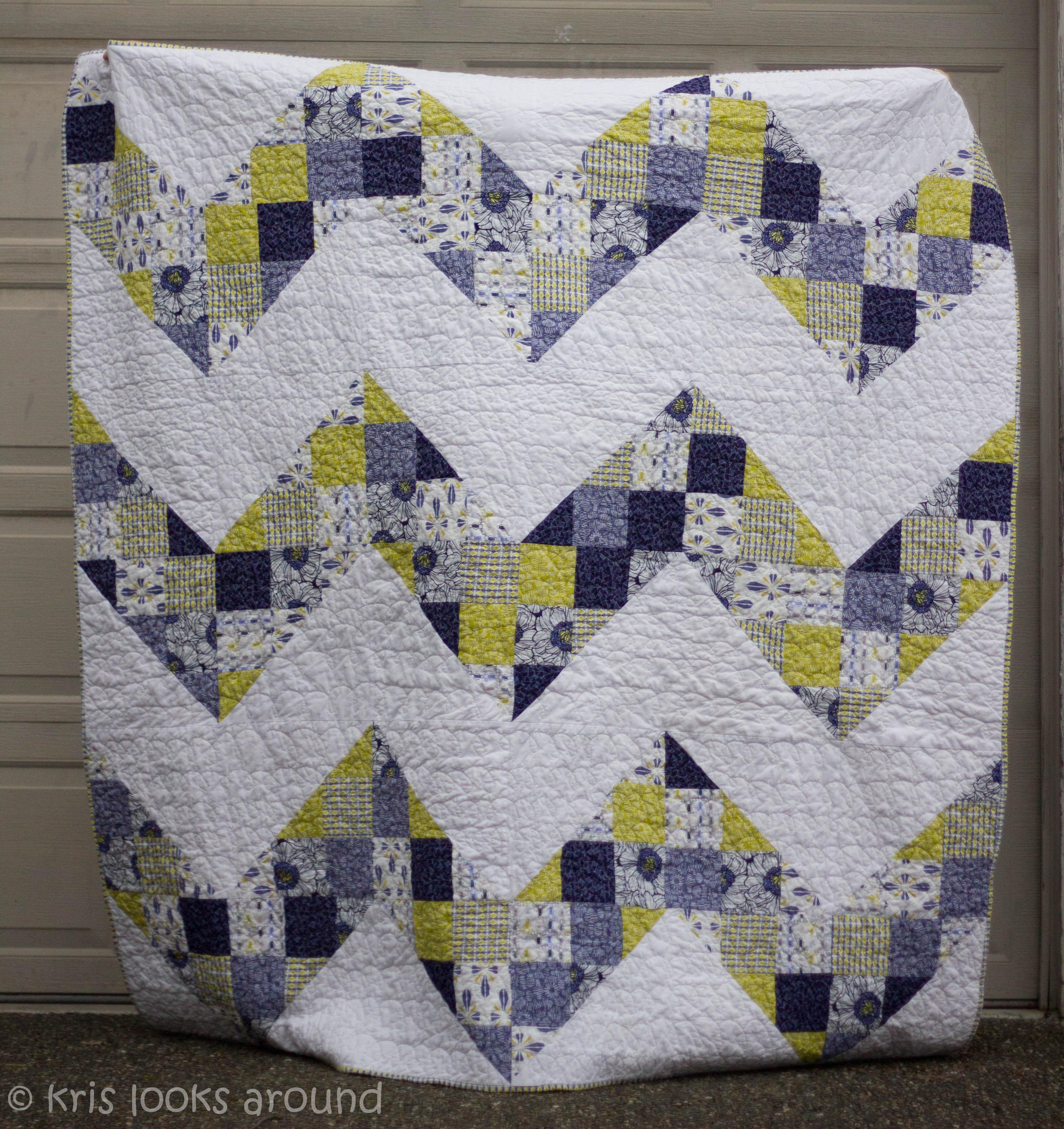 Quilting Designs For Chevron Quilts : Chevron Quilt KrisRunner