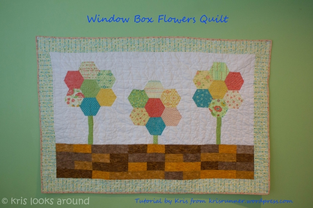 Window Box Flowers Quilt Title