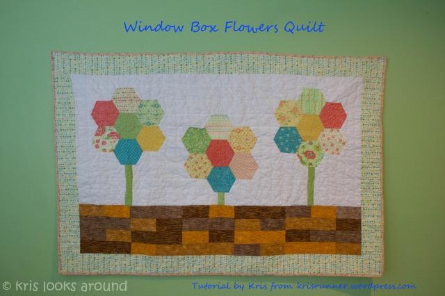 Window Box Flowers Quilt Title