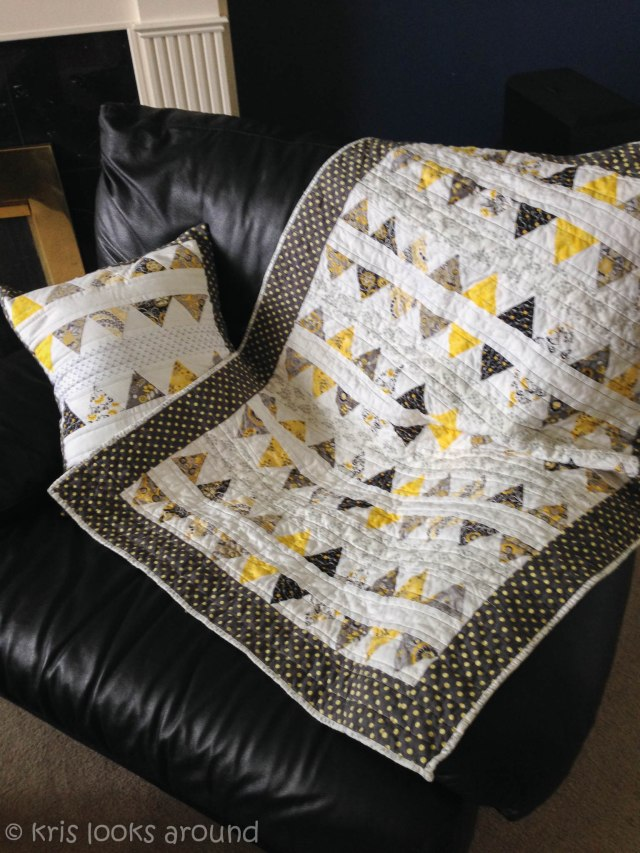 yellow and grey quilt-1