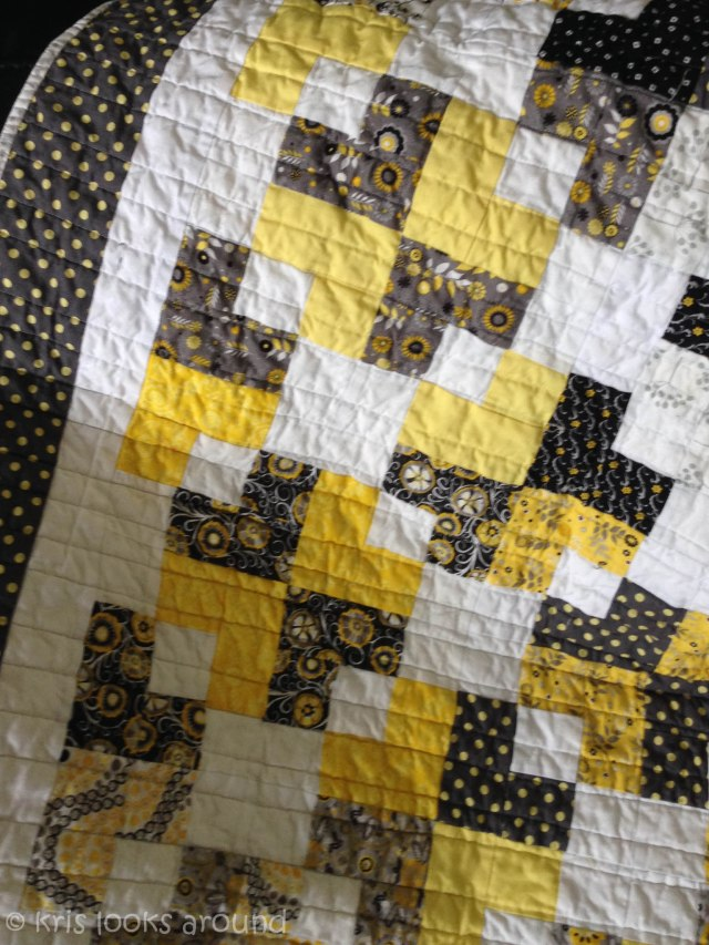 yellow and grey quilt-5