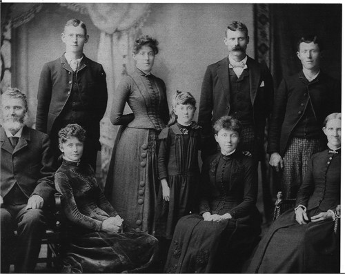 Samuel & Mary Jane (Craven) Irwin Family photo